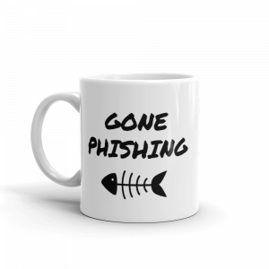 Gone Phishing Mug Left