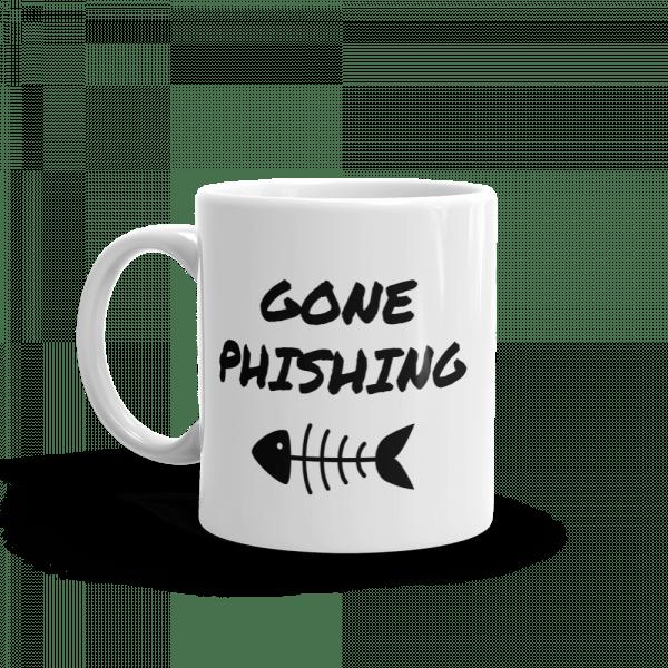 Gone Phishing Mug Left